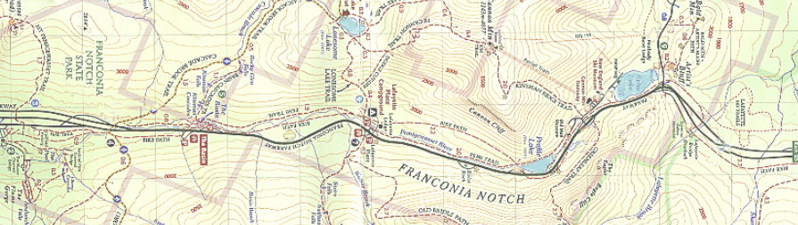 Franconia Notch Map
